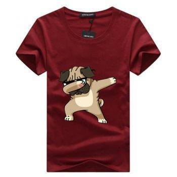Men's Dog Printed T-Shirt For Pet Lovers T-shirts & Sweatshirts