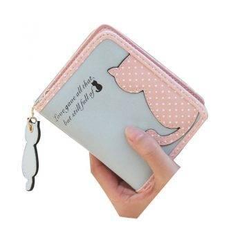 Women's Cute Cat Printed Wallet Bags & Wallets For Pet Lovers