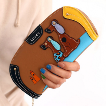 Women's Cartoon Dog Leather Wallet Bags & Wallets For Pet Lovers