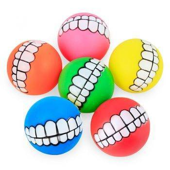 Funny Dog Ball with Teeth Dogs Toys