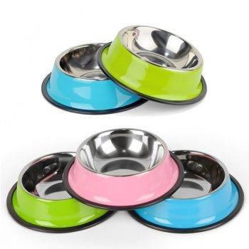 Modern Steel Dog's Bowl Dogs Feeding & Watering Accessories