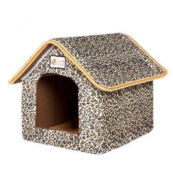 Folding Pet House with Soft Mat Beds Dogs