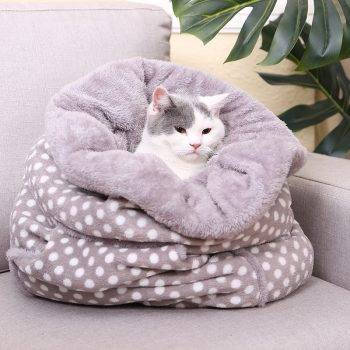 Cute Style Pet Sleeping Bag Beds Cats