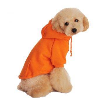 Orange Casual Dog Hoodie Clothing Dogs